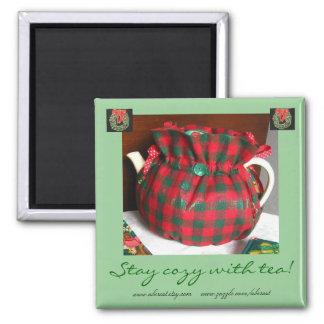 茶クリスマスの磁石と居心地のよい滞在 マグネット