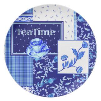 茶タイムのメラミンプレート プレート