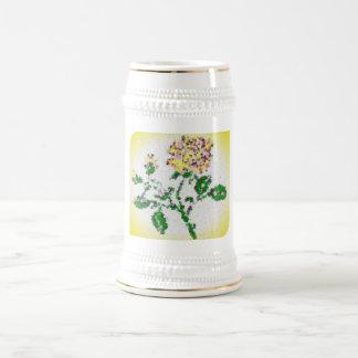 茶バラ ビールジョッキ