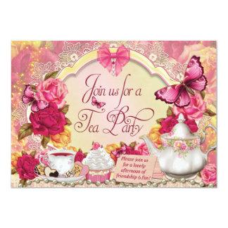 茶パーティの招待状 12.7 X 17.8 インビテーションカード