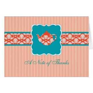 茶ポットはメッセージカード感謝していしています カード