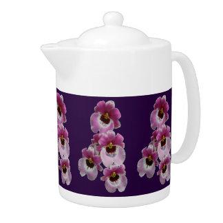 茶ポット-パンジー蘭
