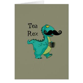 茶レックスのおもしろいな恐竜の漫画のほのめかし カード