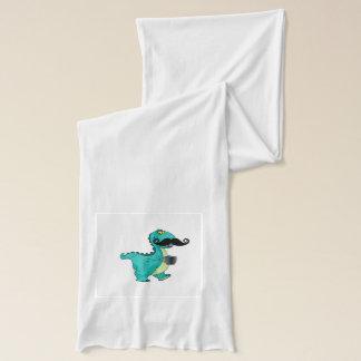 茶レックスのおもしろいな髭の恐竜 スカーフ