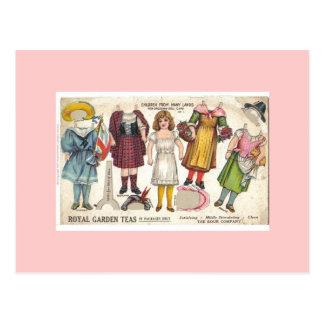 茶人形の郵便はがき ポストカード
