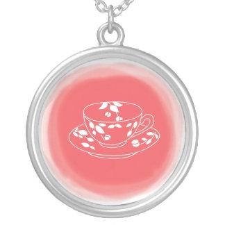 茶恋人のネックレス シルバープレートネックレス