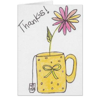 茶感謝! カード