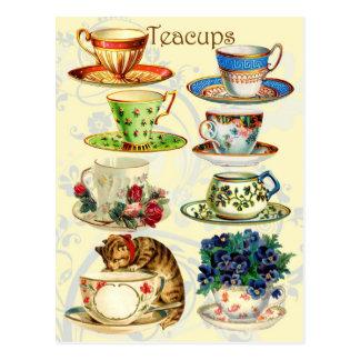 茶時間のティーカップ ポストカード