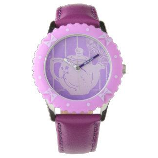 茶時間ティーポットの腕時計 腕時計