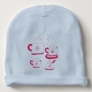 茶時間ベビーの帽子 ベビービーニー