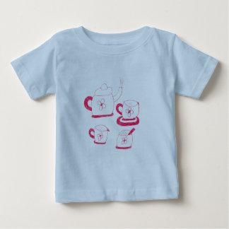 茶時間ベビーの素晴らしいジャージーのTシャツ ベビーTシャツ