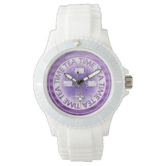 茶時間紫色 腕時計
