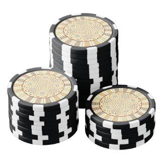 茶色がかった曼荼羅 ポーカーチップ