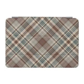 茶色がかった鋼色のタータンチェックの点検 iPad MINIカバー