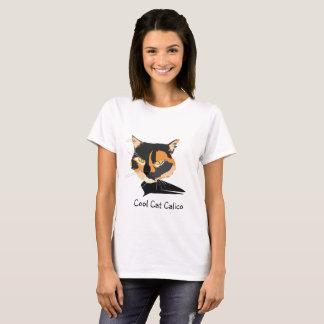 茶色のぶち猫のワイシャツ Tシャツ