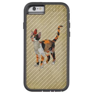 茶色のぶち猫及び(鳥)ショウジョウコウカンチョウ TOUGH XTREME iPhone 6 ケース