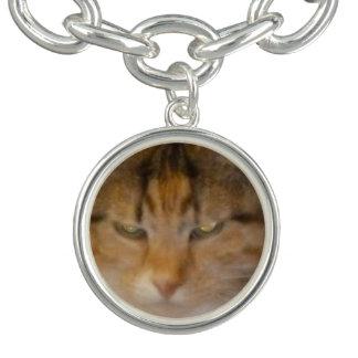 茶色のぶち猫 チャームブレス