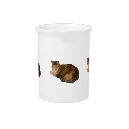 茶色のぶち猫 ドリンクピッチャー
