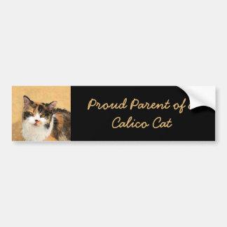 茶色のぶち猫 バンパーステッカー