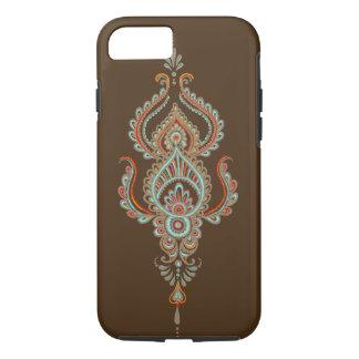 茶色のペーズリーの堅いiPhone 7の箱 iPhone 7ケース