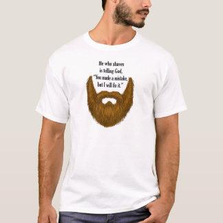 茶色の曖昧なひげ Tシャツ