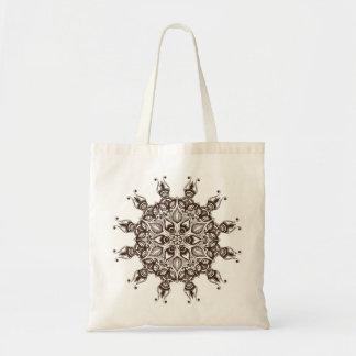 茶色の装飾用の曼荼羅が付いているフェミニンな民族のバッグ トートバッグ