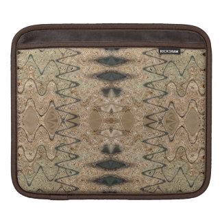 茶色のbiegeの西部パターン iPad 用スリーブ