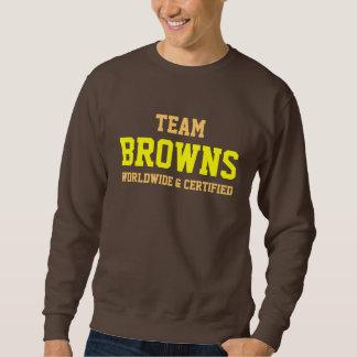 茶色家族のプライドのスエットシャツ スウェットシャツ
