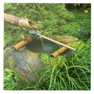 茶道のための春、寺院Sanzenで、 タイル