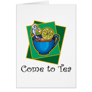茶1に来られる グリーティングカード