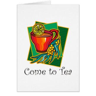 茶2に来られる グリーティングカード