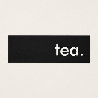 茶 スキニー名刺