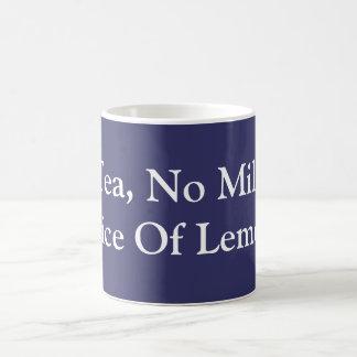 茶、ミルク無し、切れのレモン コーヒーマグカップ