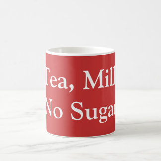 茶、ミルク、砂糖無し コーヒーマグカップ