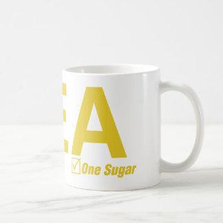 茶、レモン、1つの砂糖 コーヒーマグカップ