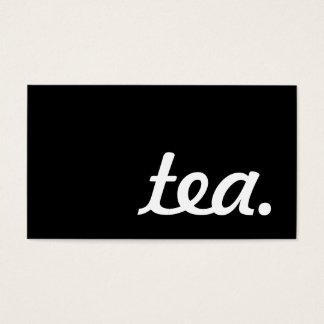 茶。 ロイヤリティのパンチカード 名刺