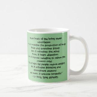 茶-中国のな知恵のマグの7つのボール コーヒーマグカップ