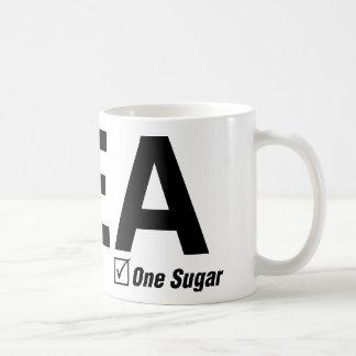 茶、黒、1つの砂糖 コーヒーマグカップ