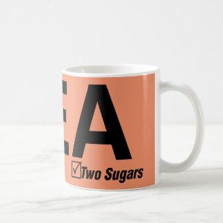 茶、黒、2つの砂糖 コーヒーマグカップ