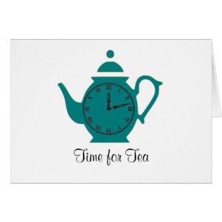 茶Notecardの時間 カード