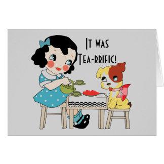 茶rrificありがとう カード