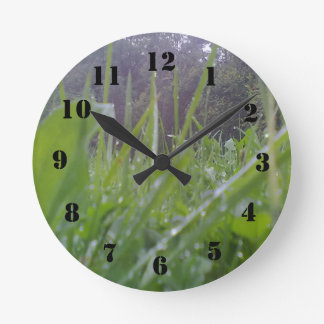草および木 ラウンド壁時計