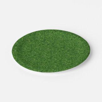 草が茂った分野 ペーパープレート