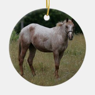 草に立っているAppaloosaの馬 セラミックオーナメント