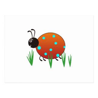 草のてんとう虫 ポストカード