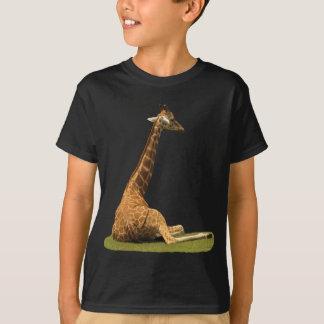 草のキリン Tシャツ
