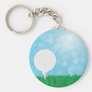 草のゴルフ・ボール キーホルダー