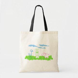 草のバッグのだちょう、カバ及びイエス・キリスト トートバッグ