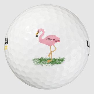 草のフラミンゴ ゴルフボール