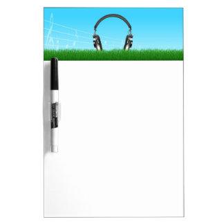 草のヘッドホーン ホワイトボード